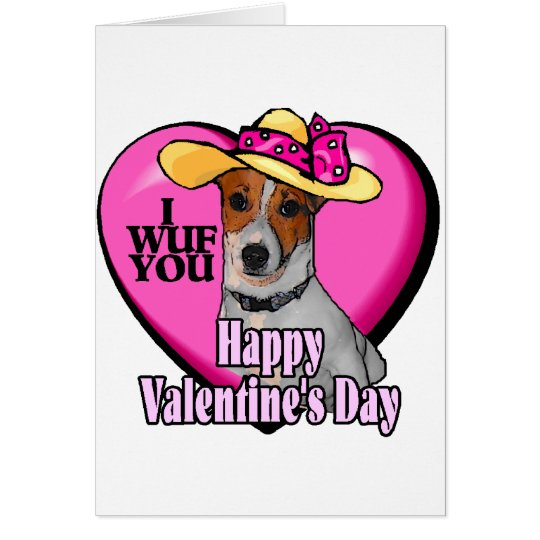 Jack Russell Terrier Valentines Card