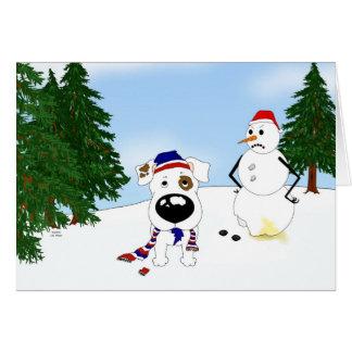 Jack Russell Terrier Winter Scene Card