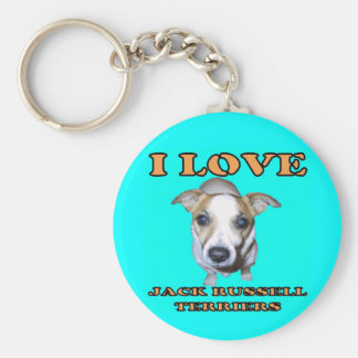Jack Russell Terriers Keychain. Basic Round Button Key Ring