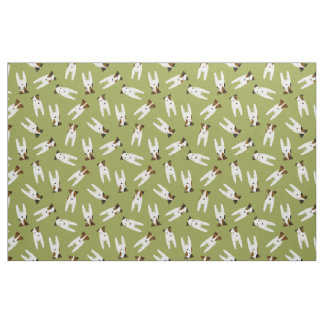 Jack Russell Terriers pattern olive or any color Fabric