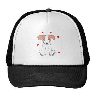 Jack Russell Valentine Ears Cap