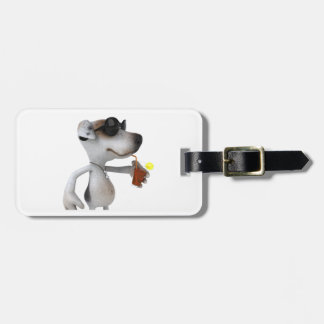 Jack Russell Wearing Sunglasses Luggage Tags