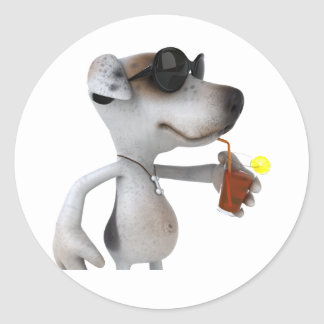 Jack Russell Wearing Sunglasses Stickers