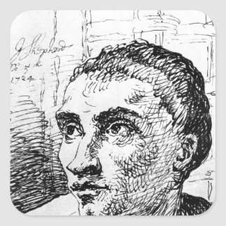 Jack Sheppard, 1724 Square Sticker