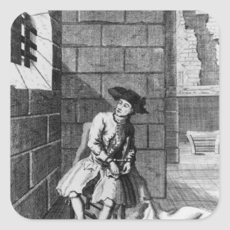 Jack Shepperd in Newgate Prison, 1724 Square Sticker