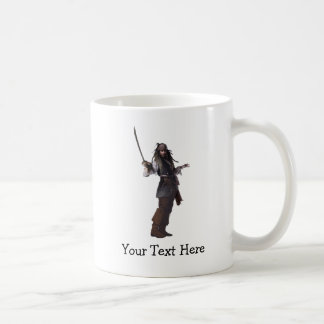 Jack Sparrow Standing with Sword Coffee Mug