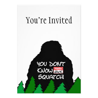 Jack Squatch Invitation