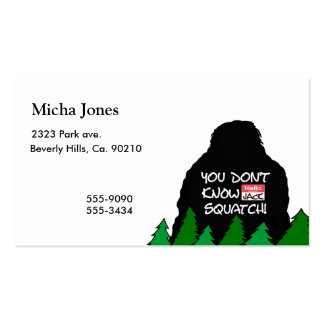Jack Squatch Pack Of Standard Business Cards