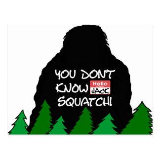 Jack Squatch Postcard