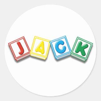 Jack Round Sticker