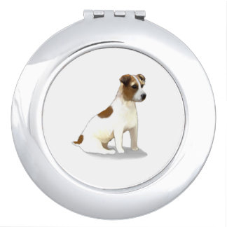 Jack Terrier Dog Sitting Compact Mirrors