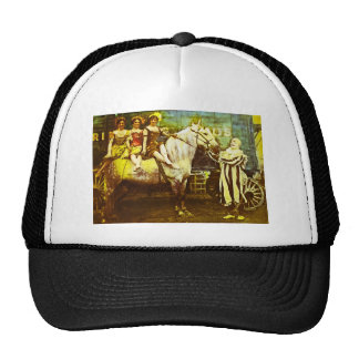 Jack the Clown and the Three Queens Vintage Circus Cap