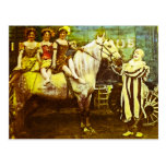 Jack the Clown and the Three Queens Vintage Circus Post Card