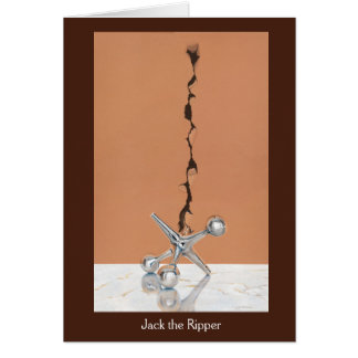 Jack the Ripper Greeting Card - 5x7 with envelope