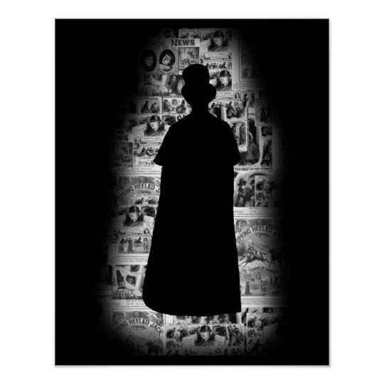 Jack the Ripper Silhouette Poster