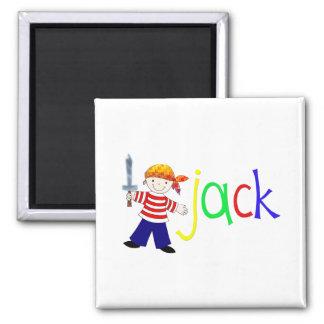 Jack with pirate illustration refrigerator magnet