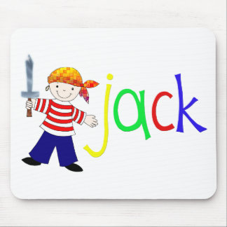 Jack with pirate illustration mouse pads