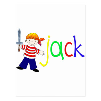 Jack with pirate illustration post card
