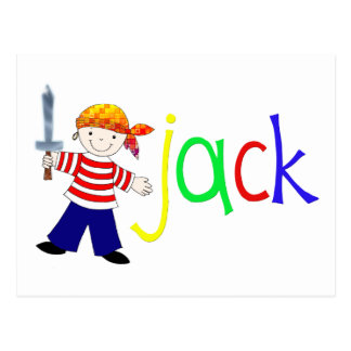 Jack with pirate illustration postcards