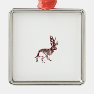 Jackalope Christmas Ornament