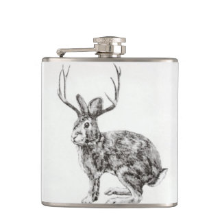 Jackalope Hip Flask