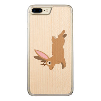 Jackalope: Rabbit with Antlers Carved iPhone 7 Plus Case