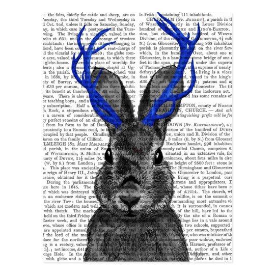 Jackalope with Blue Antlers Postcard