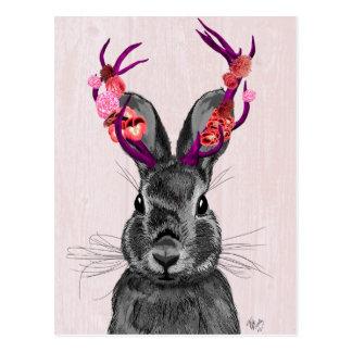 Jackalope with Pink Antlers 2 Postcard
