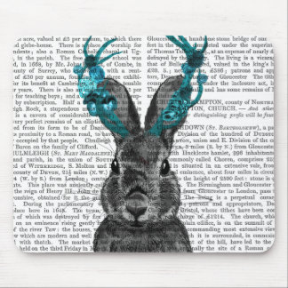 Jackalope with Turquoise Antlers Mouse Mat