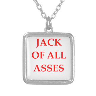 jackass silver plated necklace