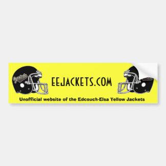 Jacket Football Helmets Bumper Sticker