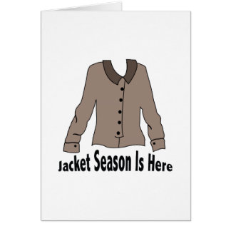 Jacket Season Greeting Card