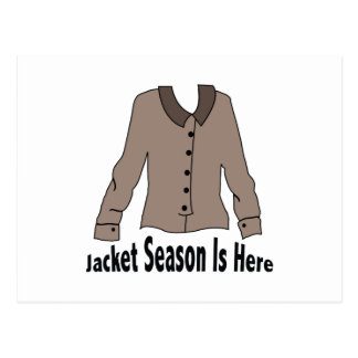 Jacket Season Postcard
