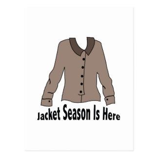 Jacket Season Post Card