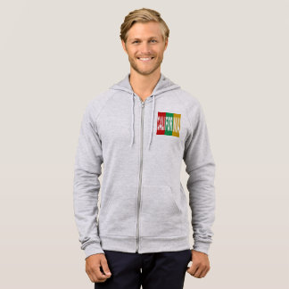 JACKET WITH HOOD HEATHER DESIGN CALIFORNIA   THE