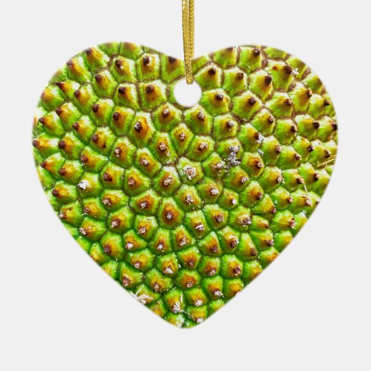 Jackfruit Dble-sided Heart Ornanent Christmas Ornament