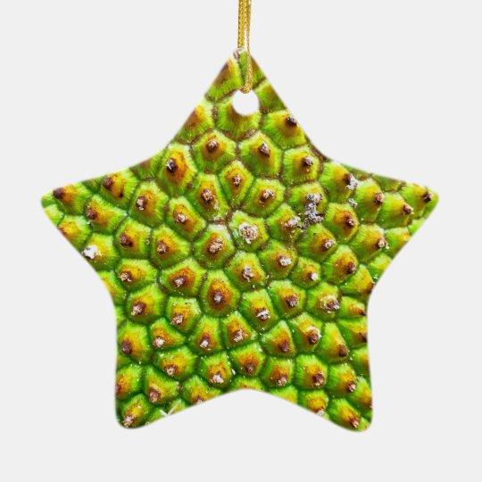 Jackfruit Dble-Sided Star Ornament