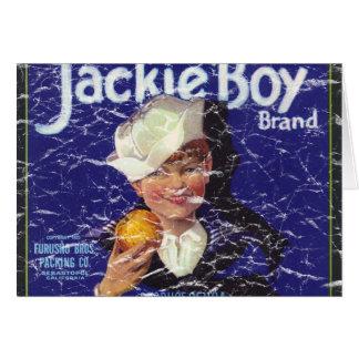 Jackie Boy - distressed Greeting Card