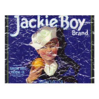 Jackie Boy - distressed Postcard