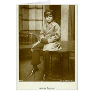 Jackie Coogan 1920s vintage portrait card