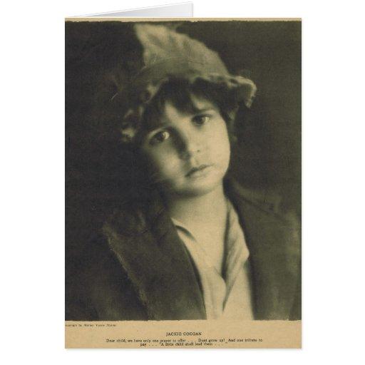 Jackie Coogan 1922 Greeting Card
