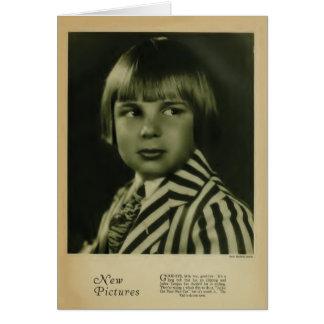 Jackie Coogan 1926 vintage portrait card