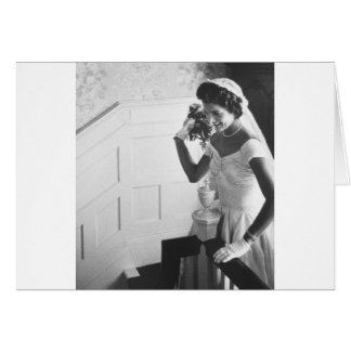 Jackie Kennedy, 1953 Greeting Card