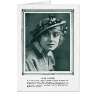 Jackie Saunders 1915 magazine portrait card