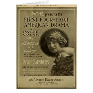 Jackie Saunders 1915 vintage movie advertisement Greeting Card