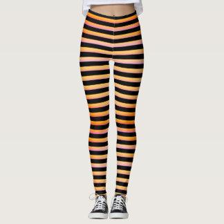 Jacko Lantern Orange Striped Leggings
