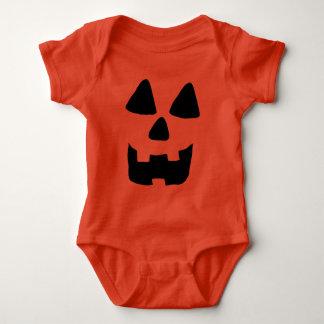 Jackolantern face baby bodysuit