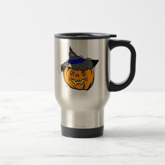 Jackolantern in witches hat mug