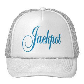 Jackpot Cap Blue Letters Trucker Hat