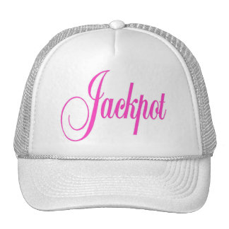 Jackpot Cap Hot Pink Letters Hats